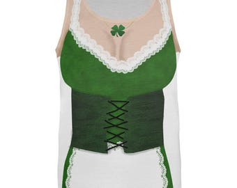 1a7c56f23 St. Patricks Day Sexy Irish Girl Costume All Over Adult Tank Top