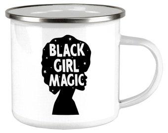 6b9619b2ec402 Black History Month Black Girl Magic Afro Camp Cup