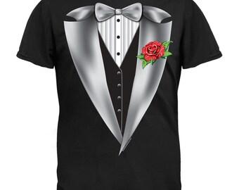 High Class Tuxedo Black Adult T-Shirt