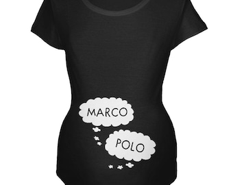 Speech Bubble Marco Polo Twins Maternity Soft T Shirt