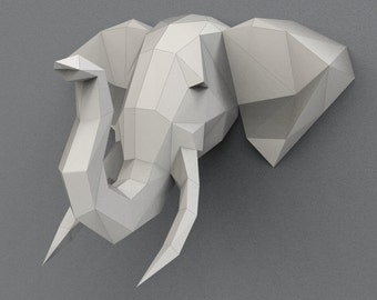 Download Print On A4 Elephant XXL Sculpture 236Inch 60cm WideElephant Trophy Animal Paper Folding Papyrus