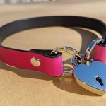 The Athena - Front Heart Locking Collar for BDSM, Dom Sub, Leash Play