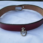 The Andromeda - Locking Leather Collar with Ring for BDSM Dominant Submissive Play, Pet Play, Littles, Slave and Master