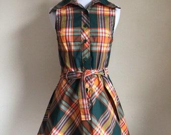 Vintage 60s Plaid Dress