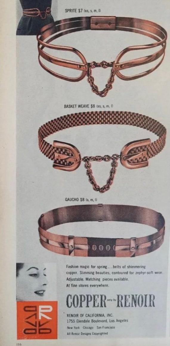 1950s Renoir Copper Belt M - image 10