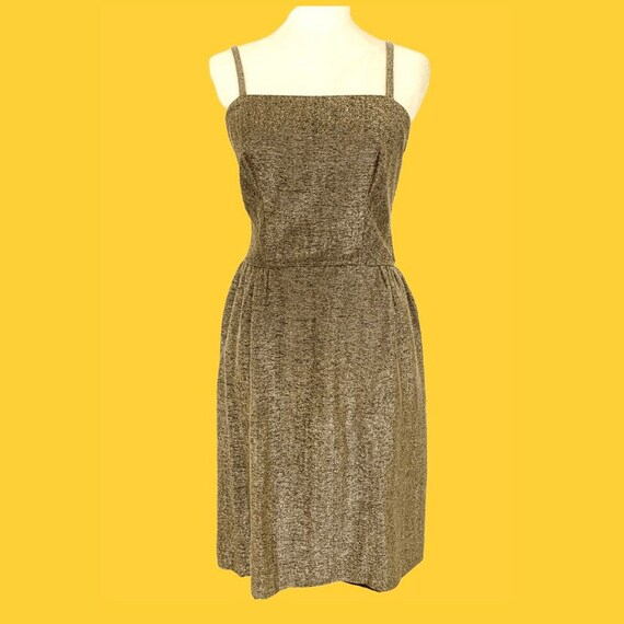 1960s Gold Lamè Dress W28