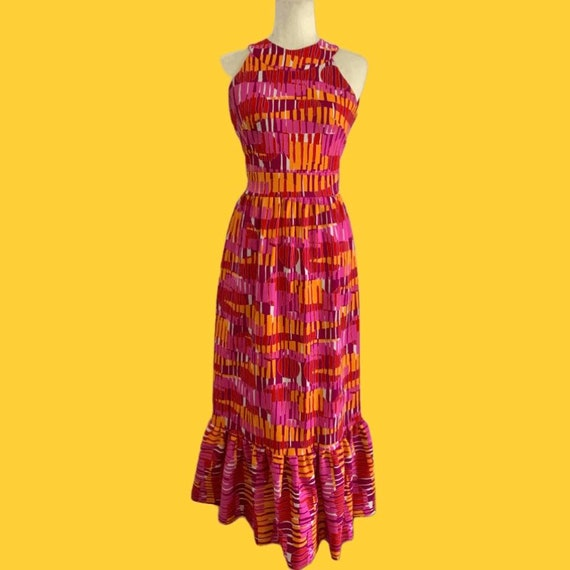 1970s Pink Mermaid Maxi