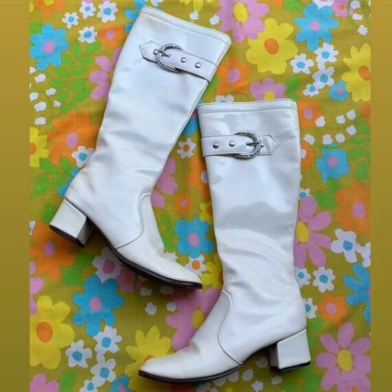 1960s White GoGo Boots