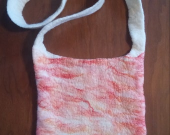 felted purse or shoulder bag