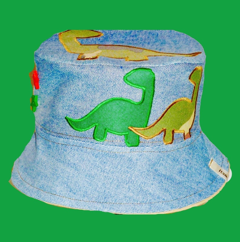 42ad37e7c0f Dinosaur appliqué hat Dinosaur hat toddler sun hat boys Sun