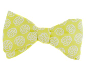 BOW TIE   yellow neuroscience   organic   mens   self-tie