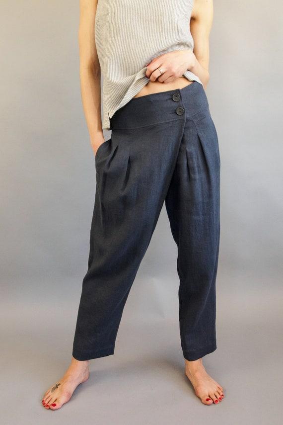 molti alla moda tecniche moderne 2019 prezzo all'ingrosso Pantaloni di lino 20 + colori yoga pantaloni donna Lino harem pants  pantaloni estivi drop cavallo pantaloni