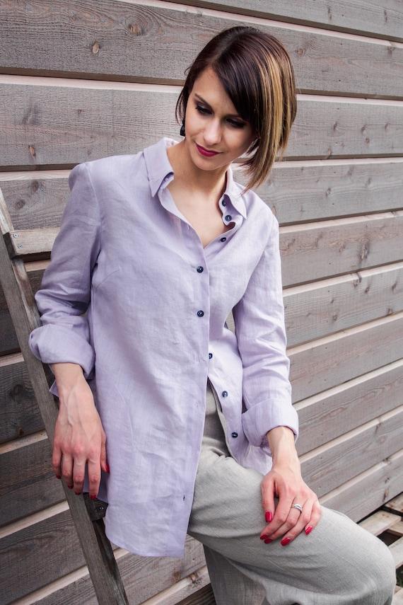 Linen Shirt Women Linen Shirt Linen Womens Clothing Linen Etsy