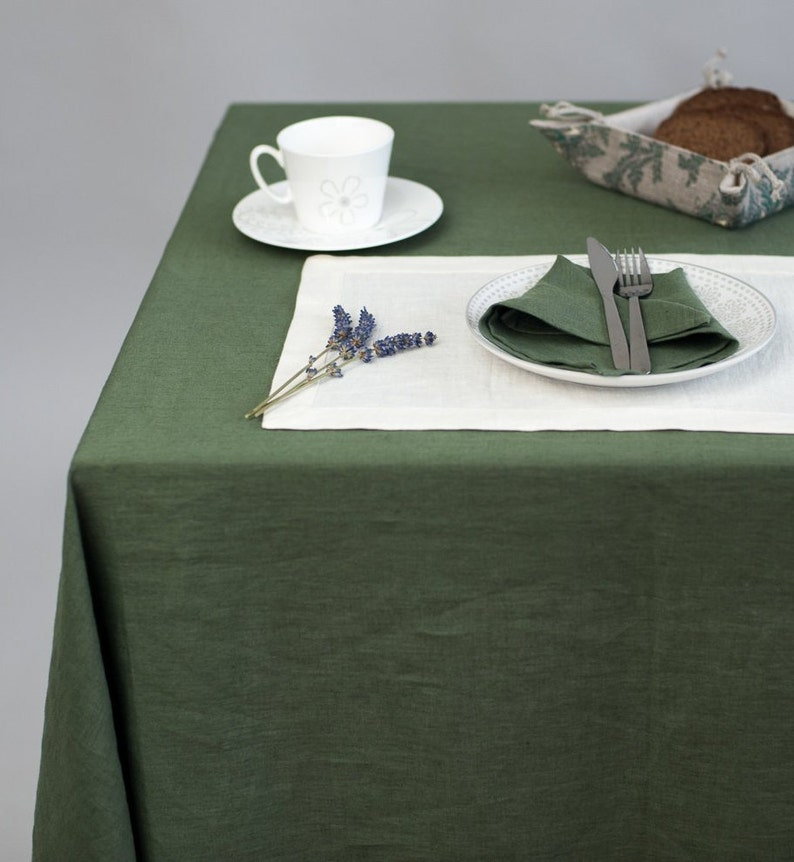 Large table cloth 20+ COLORS and 3 SIZES Lithuanian linen Square tablecloth