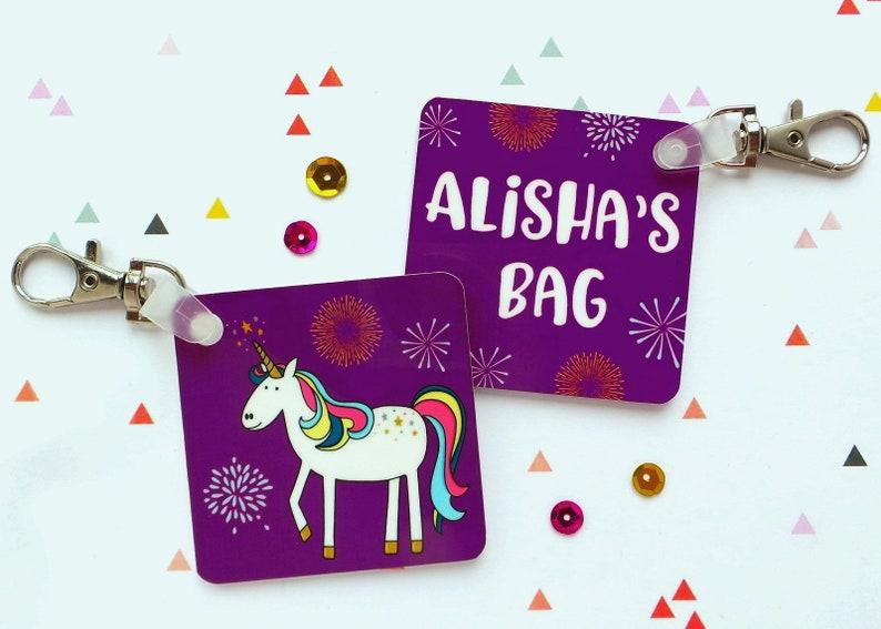 Personalised UNICORN Keyring Bag Tag