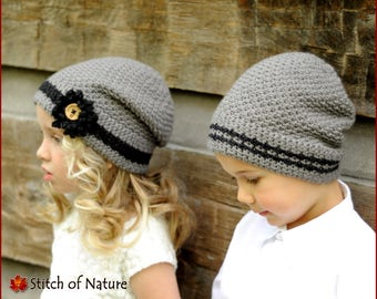 Yamike Kids Knitted Hat Thick Soft Warm Slouchy Knit Hat for Boys /& Girl