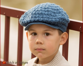 Crochet PATTERN - The Collins Scally Cap Newsboy Hat 852117331341