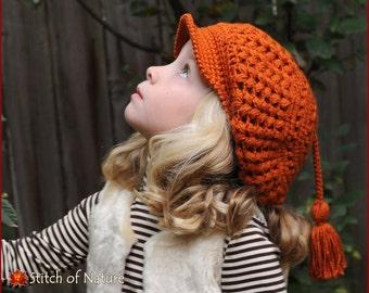 Crochet PATTERN The Byron Scally Cap Newsboy Hat 1920s Hat  747532e4f551