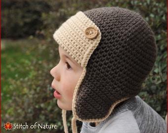 09a6d0db8c0 Crochet PATTERN - The Skylar Aviator Hat