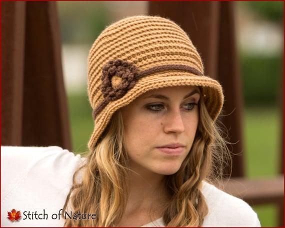 d1d6e0f3cc9 Crochet Hat PATTERN The Lexington Brimmed Hat Cloche Hat