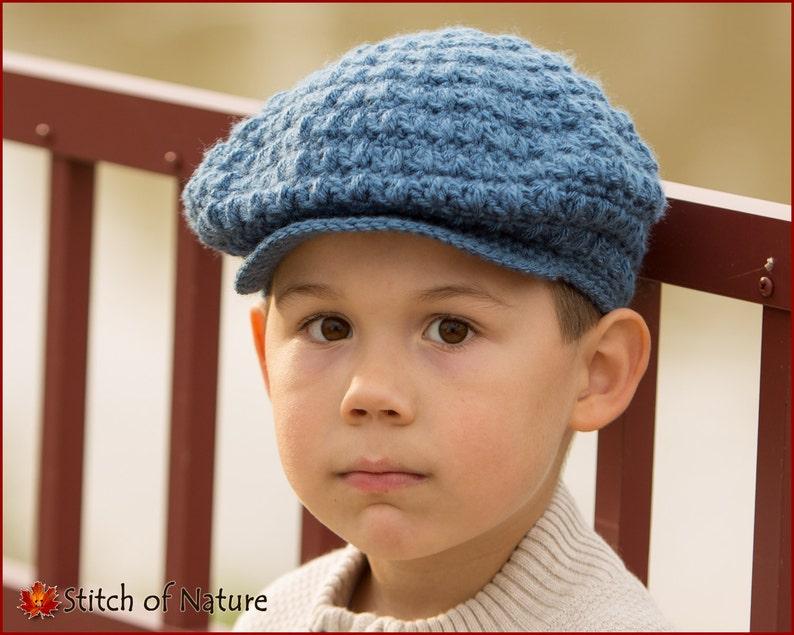 bbeb96abd9 Crochet PATTERN - The Collins Scally Cap/Newsboy Hat, Girls Beret Pattern  (18