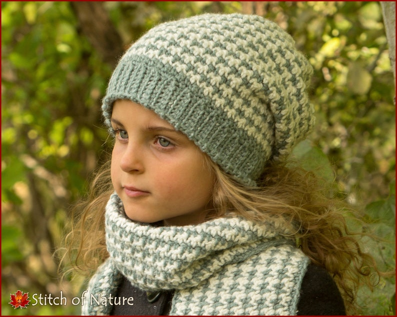 50751f3744d Crochet PATTERN The Lawrence Slouchy Hat and Scarf Set