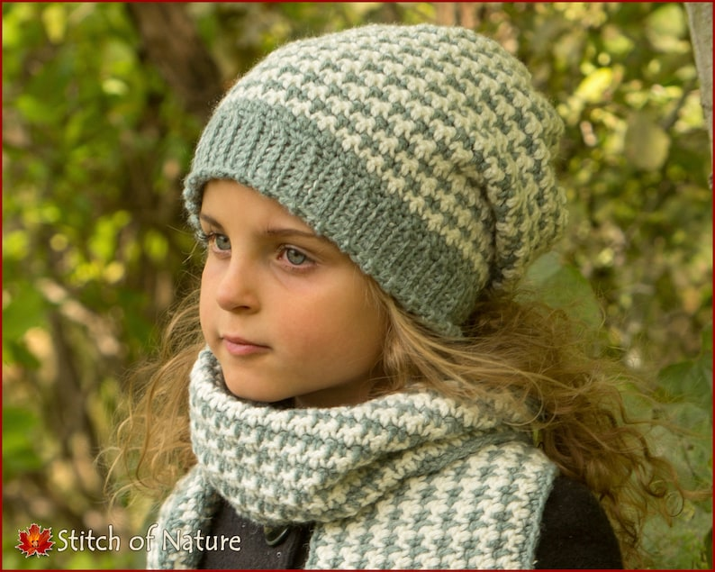 615ad6aa893 Crochet PATTERN The Lawrence Slouchy Hat and Scarf Set