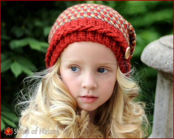 Crochet Hat Pattern The Claiborne Slouchy Hat Toddler To Etsy