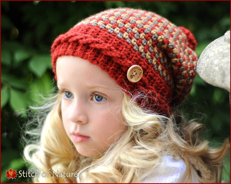 15f20ff51a9 Crochet Hat PATTERN The Claiborne Slouchy Hat Toddler to