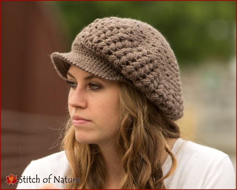 cff18e9c8b3 Crochet PATTERN The Madison Scally Cap Newsboy Hat Slouchy
