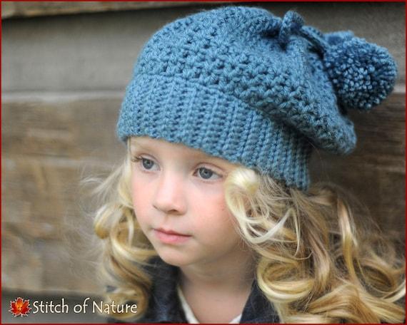 Crochet Pattern The Bellevue Slouchy Hat Crochet Beret Etsy