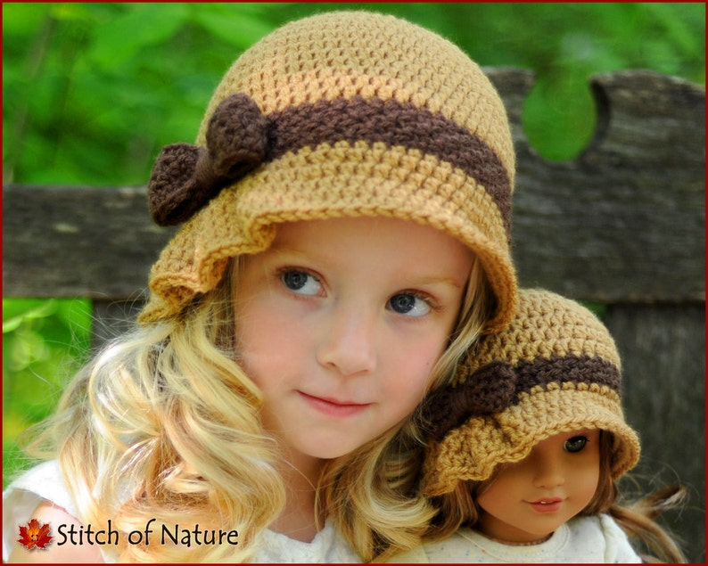 d2ec63ba4dc Crochet PATTERN The Charlotte Pleated Hat with a Bow Cloche