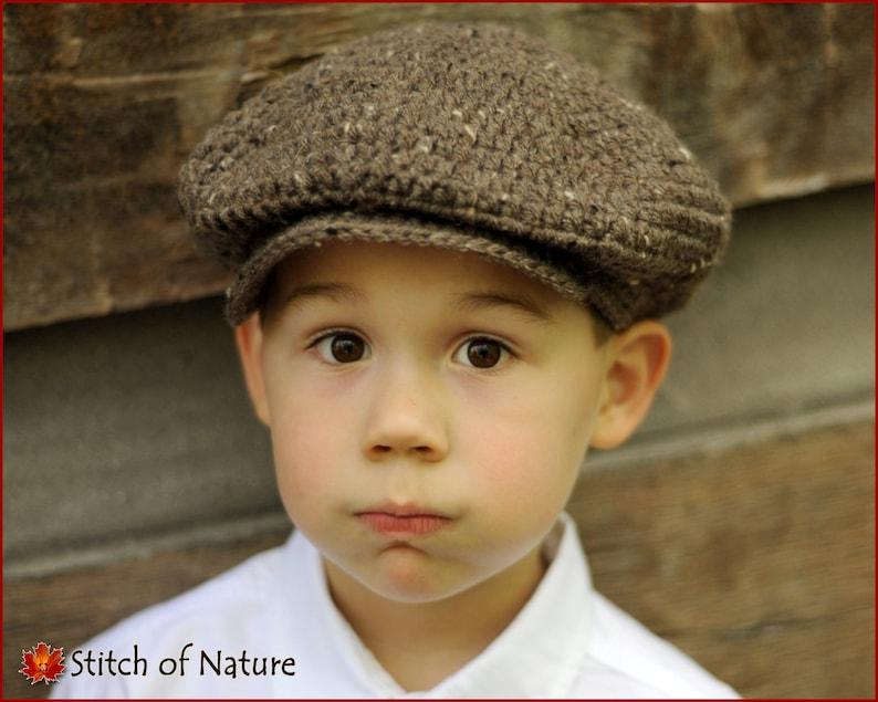 Crochet PATTERN The Belmont Scally Cap Newsboy Hat 1920s  aff8c716139