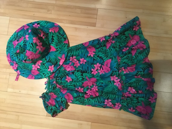 Made to Order Toddler Dress and Sun Hat
