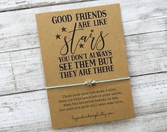 Friendship Bracelets, Long Distance Gift, Long Distance Friendship, Best Friend Gift, Long Distance Relationship, Friends are Like Stars