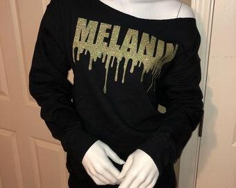 Melanin Off-Shoulder SweatShirt/Crew Onesie
