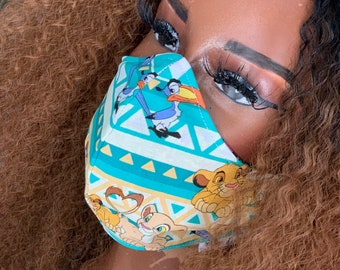 Lion King Cotton Face Mask, Pollen Mask, Dust Mask, Travel Mask, Double Layered & Washable