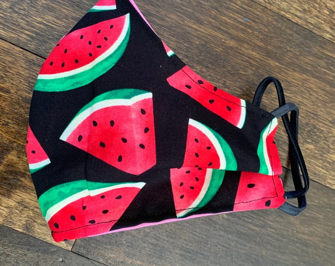 Watermelon! Cotton Face Mask, Pollen Mask, Dust Mask, Travel Mask, Double Layered & Washable