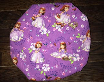 Sofia the 1st Satin Lined Bonnet (Please Leave Child's Age in Notes to Seller)