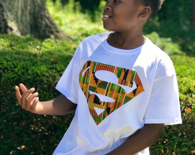 African Kente Superman T-Shirt