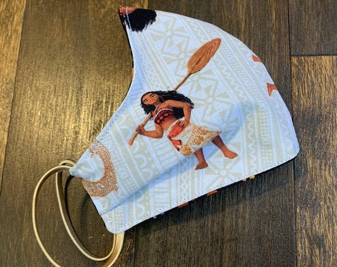Moana Cotton Face Mask, Pollen Mask, Dust Mask, Travel Mask, Double Layered & Washable