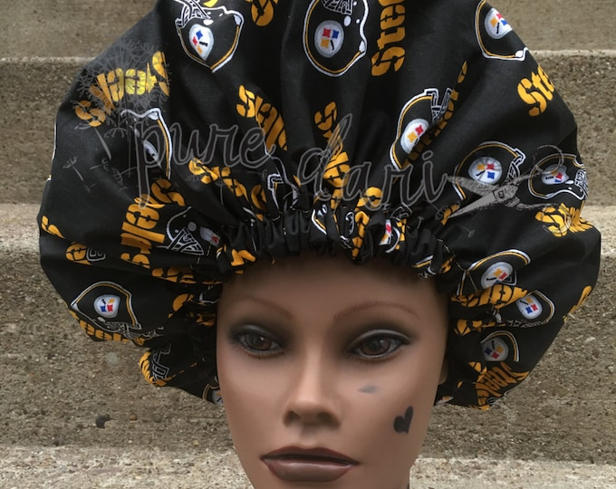 Pittsburgh Steelers Satin Lined Bonnet