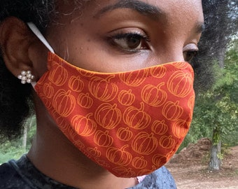It's Fall Y'all! Cotton Face Mask, Pollen Mask, Dust Mask, Travel Mask, Double Layered & Washable