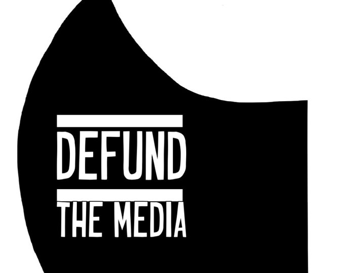 DEFUND THE MEDIA Cotton Face Mask, Pollen Mask, Dust Mask, Travel Mask, Double Layered & Washable