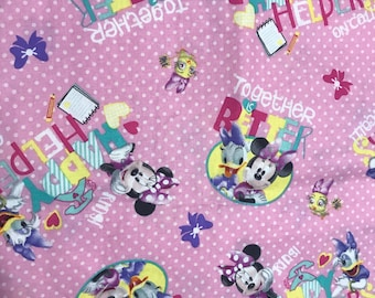 Minnie Mouse & Friends Satin Lined Bonnet (Please Leave Child's Age in Notes to Seller)