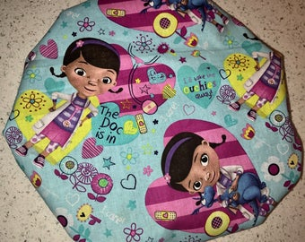 Doc McStuffins Satin Lined Bonnet (Please Leave Child's Age in Notes to Seller)