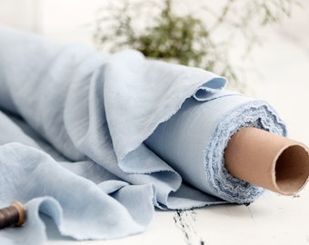 Steel Blue linen Prewashed soft linen fabric by meter or yard. Baltic linen fabric Medium weight linen Linen fabric Flax linen fabric