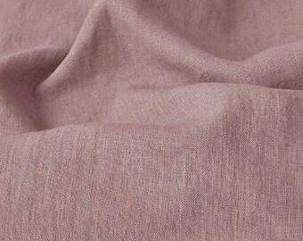 Linen fabric. Antique mauve linen. Medium weight linen. Baltic linen fabric. Flax linen fabric. Prewashed soft linen fabric by meter or yard