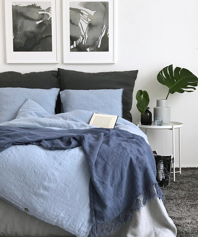 linen duvet cover queen. Linen Duvet Cover. Sky Blue Color Duvet. Soft Seamless Quilt Twin, Queen, King Size Comforter. Bedding. Cover Queen W