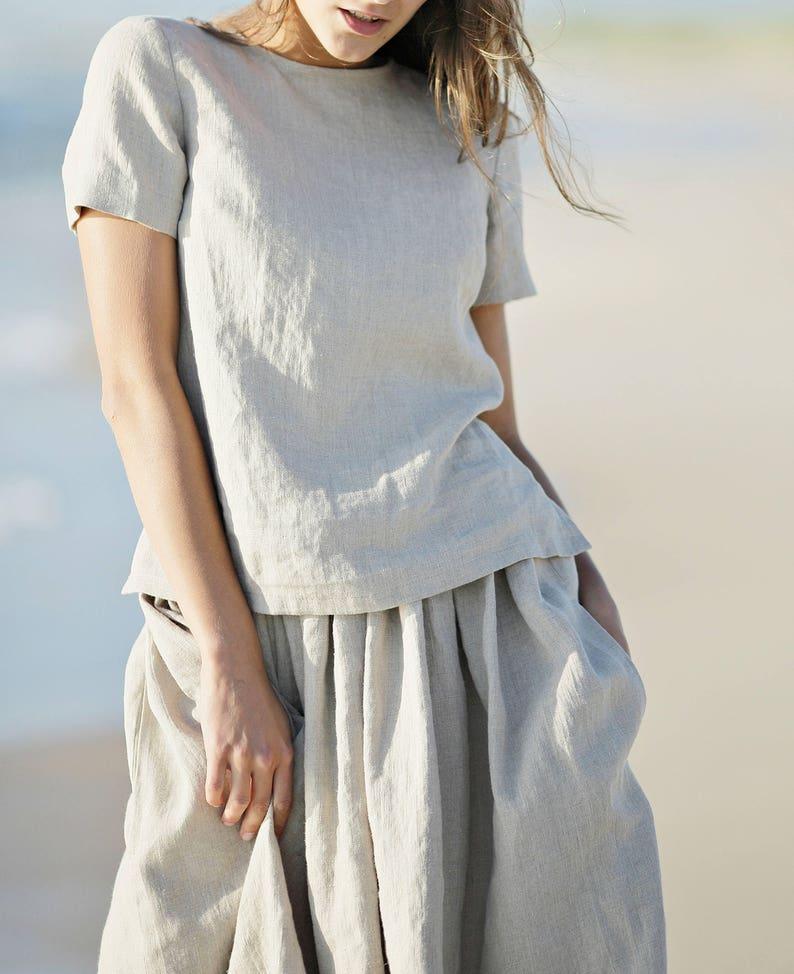 540fdeb37987 Linen blouse. Linen tank top. Women shirt. Linen shirt. Linen